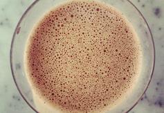Raw cacao cashew milk 250 cals